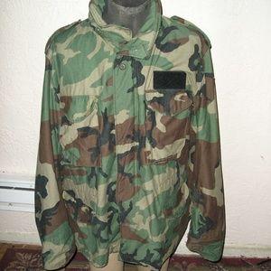 1990's US ARMY M65 FIELD JACKET WOODLAND CAMOUFLAG
